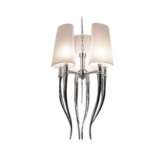 AZZARDO 0028 | Diablo-AZ Azzardo csillár lámpa 6x E14 króm, fehér
