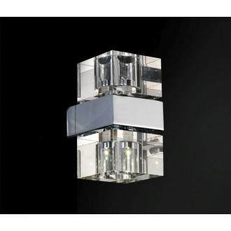 AZZARDO 0035 | Box-AZ Azzardo fali lámpa 2x G4 króm, átlátszó