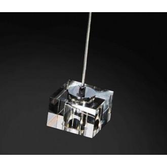 AZZARDO 0036 | Box-AZ Azzardo függeszték lámpa 1x G4 króm, átlátszó