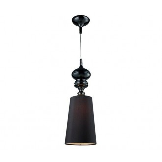 AZZARDO 0064 | Baroco Azzardo függeszték lámpa 1x E27 fekete, antik