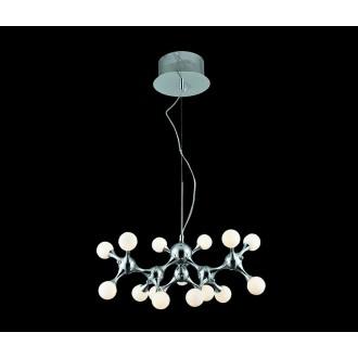 AZZARDO 0107 | Neurono Azzardo függeszték lámpa 15x G4 króm, fehér, opál
