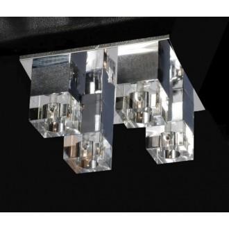 AZZARDO 0178 | Box-AZ Azzardo mennyezeti lámpa 4x G4 króm, átlátszó