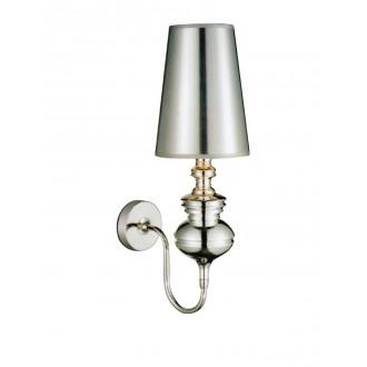 AZZARDO 0308 | Baroco Azzardo falikar lámpa 1x E14 ezüst