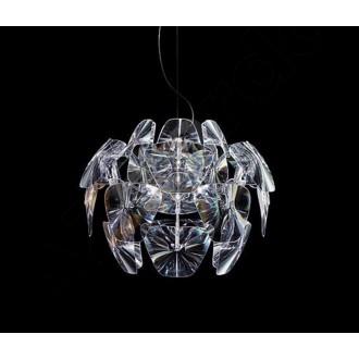 AZZARDO 0314 | 3D Azzardo függeszték lámpa 3x E27 króm, átlátszó
