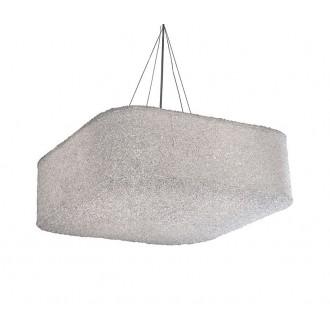 AZZARDO 0448 | Sugar Azzardo függeszték lámpa 4x E27 króm, kristály hatás, áttetsző