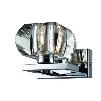 AZZARDO 0488 | Rubic-AZ Azzardo falikar lámpa 1x G9 króm, átlátszó