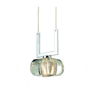 AZZARDO 0490 | Rubic-AZ Azzardo függeszték lámpa 1x G9 króm, átlátszó