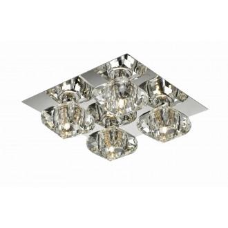 AZZARDO 0492 | Rubic-AZ Azzardo mennyezeti lámpa 4x G9 króm, átlátszó