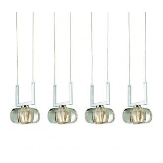 AZZARDO 0494 | Rubic-AZ Azzardo függeszték lámpa 4x G9 króm, átlátszó
