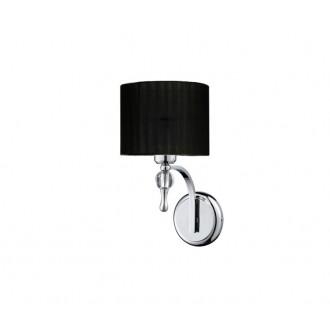 AZZARDO 0501 | Impress-AZ Azzardo falikar lámpa 1x E27 króm, fekete, kristály