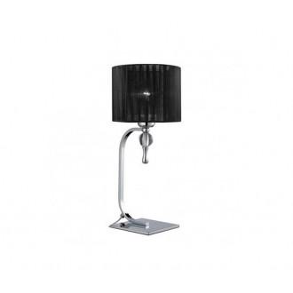 AZZARDO 0502 | Impress-AZ Azzardo asztali lámpa 42cm kapcsoló 1x E27 króm, fekete, kristály