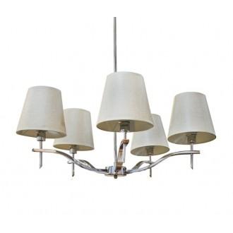 AZZARDO 0724 | Princessa-AZ Azzardo csillár lámpa 5x E14 króm, barna