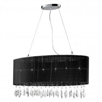 AZZARDO 0914 | Sidney-AZ Azzardo függeszték lámpa 6x E14 króm, fekete, kristály