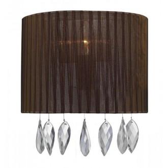 AZZARDO 0915 | Sidney-AZ Azzardo fali lámpa 1x E14 króm, barna, kristály