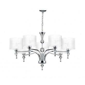AZZARDO 1106 | Impress-AZ Azzardo csillár lámpa 7x E27 króm, fehér, kristály