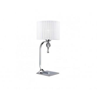 AZZARDO 1107 | Impress-AZ Azzardo asztali lámpa 42cm kapcsoló 1x E27 króm, fehér, kristály