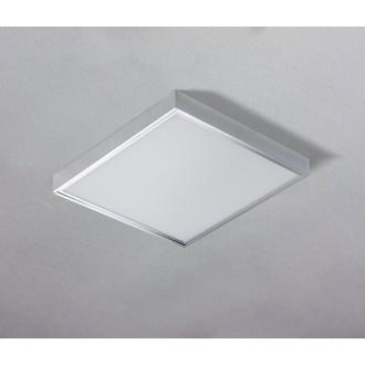 AZZARDO 1272 | Panel-AZ Azzardo álmennyezeti, mennyezeti, függeszték LED panel négyzet 1x LED 4600lm 3000K alumínium, fehér