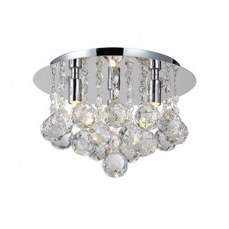 AZZARDO 1285 | Bolla Azzardo mennyezeti lámpa 3x G9 króm, átlátszó, kristály