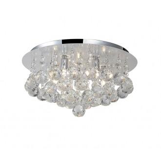 AZZARDO 1286 | Bolla Azzardo mennyezeti lámpa 5x G9 króm, átlátszó, kristály