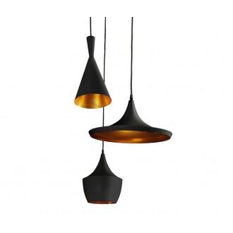 AZZARDO 1338 | Mix-AZ Azzardo függeszték lámpa 3x E27 fekete, arany