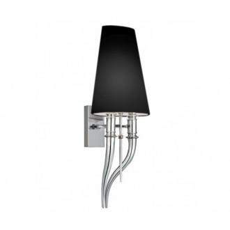 AZZARDO 1343 | Diablo-AZ Azzardo falikar lámpa 2x E14 króm, fekete
