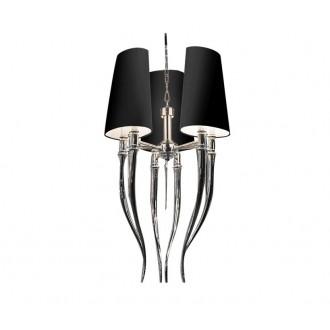 AZZARDO 1345 | Diablo-AZ Azzardo csillár lámpa 6x E14 króm, fekete