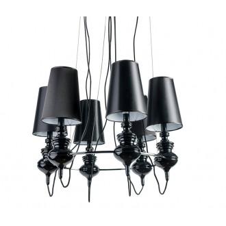 AZZARDO 1379 | Baroco Azzardo csillár lámpa 6x E14 fekete