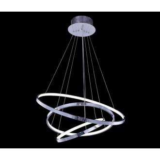AZZARDO 1431 | Wheel Azzardo függeszték lámpa rövidíthető vezeték 1x LED 4600lm 3000K króm, fehér