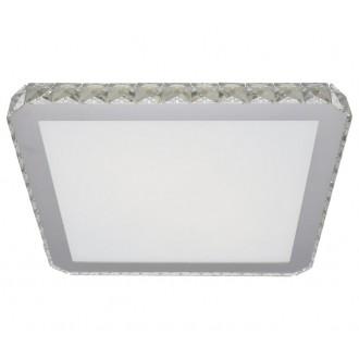 AZZARDO 1594 | Gallant Azzardo mennyezeti lámpa négyzet 1x LED 1440lm króm, opál