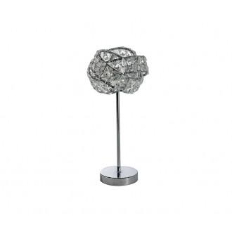 AZZARDO 2106 | Bari-AZ Azzardo asztali lámpa 38cm kapcsoló 1x G9 króm, kristály