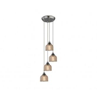 AZZARDO 2110 | Mora-AZ Azzardo függeszték lámpa 4x E27 króm, arany