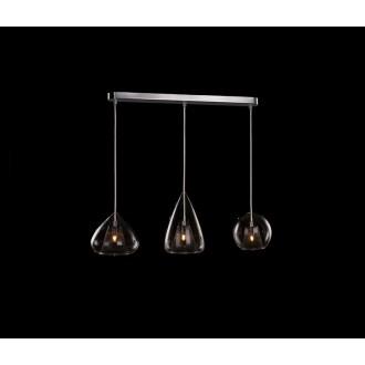 AZZARDO 2168 | Gordon-AZ Azzardo függeszték lámpa 4x G9 króm, átlátszó, barna
