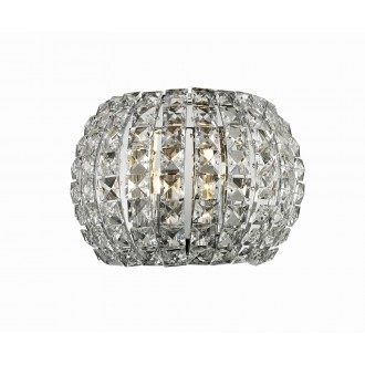 AZZARDO 2520 | Sophia Azzardo fali lámpa 2x G9 króm, kristály