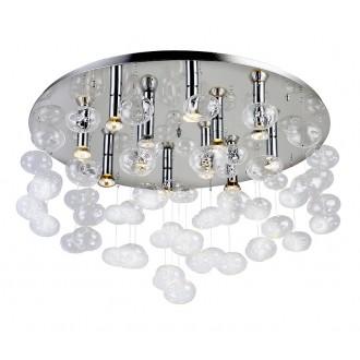 AZZARDO 2571 | Luvia Azzardo mennyezeti lámpa 12x GU10 króm, átlátszó