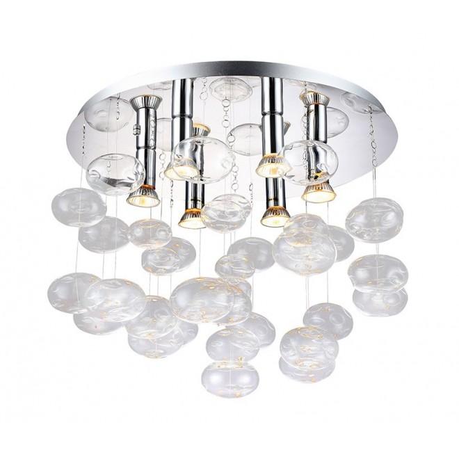 AZZARDO 2572 | Luvia Azzardo mennyezeti lámpa 6x GU10 króm, átlátszó