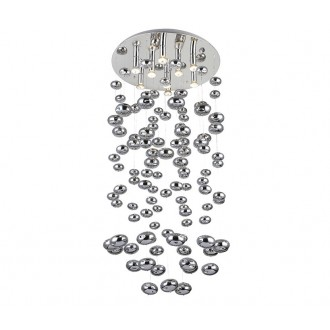 AZZARDO 2574 | Luvia Azzardo mennyezeti lámpa 9x GU10 króm