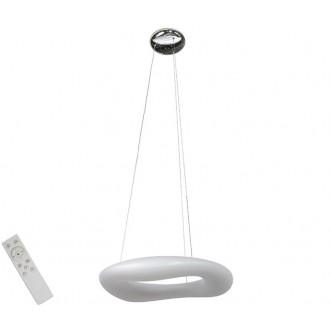 AZZARDO 2672 | Donut-AZ Azzardo függeszték lámpa távirányító szabályozható fényerő 1x LED 5440lm 2700 <-> 6000K fehér