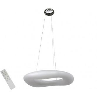 AZZARDO 2674 | Donut-AZ Azzardo függeszték lámpa távirányító szabályozható fényerő 1x LED 13940lm 2700 <-> 6000K fehér