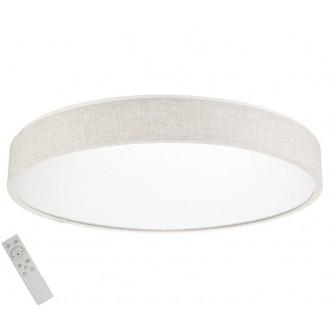 AZZARDO 2716 | Collodi Azzardo mennyezeti lámpa távirányító szabályozható fényerő, állítható színhőmérséklet 1x LED 3400lm 3000 <-> 6500K bézs, fehér
