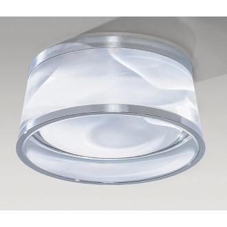 AZZARDO 2773   Una-AZ Azzardo beépíthető lámpa Ø90mm 90x90mm 1x LED 590lm 4000K IP44 fehér, átlátszó