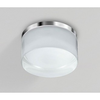 AZZARDO 2774 | Linz Azzardo mennyezeti lámpa 1x LED 3000K IP44 króm, fehér