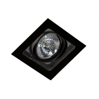 AZZARDO 2810 | Sisto Azzardo beépíthető lámpa négyzet elforgatható fényforrás 190x190mm 1x G53 / AR111 fekete