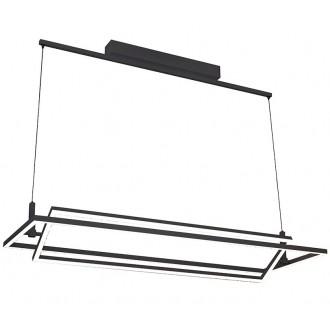 AZZARDO 2849 | Viena Azzardo függeszték lámpa szabályozható fényerő 1x LED 4200lm 3000K fekete