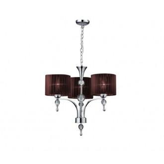 AZZARDO 2900 | Impress-AZ Azzardo csillár lámpa 3x E27 króm, barna, kristály