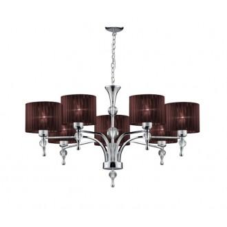 AZZARDO 2902 | Impress-AZ Azzardo csillár lámpa 7x E27 króm, barna, kristály