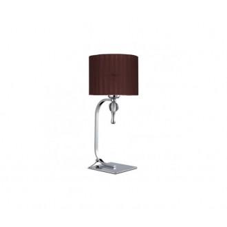 AZZARDO 2903 | Impress-AZ Azzardo asztali lámpa 42cm kapcsoló 1x E27 króm, barna, kristály