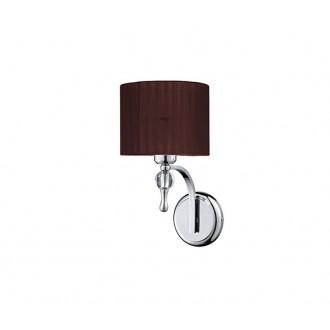 AZZARDO 2904 | Impress-AZ Azzardo falikar lámpa 1x E27 króm, barna, kristály