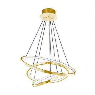 AZZARDO 2918 | Wheel Azzardo függeszték lámpa 1x LED 4800lm arany, fehér