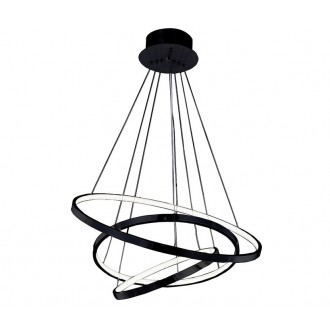 AZZARDO 2920 | Wheel Azzardo függeszték lámpa 1x LED 4800lm fekete, fehér