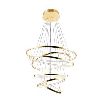 AZZARDO 2921 | Wheel Azzardo függeszték lámpa 1x LED 8400lm arany, fehér